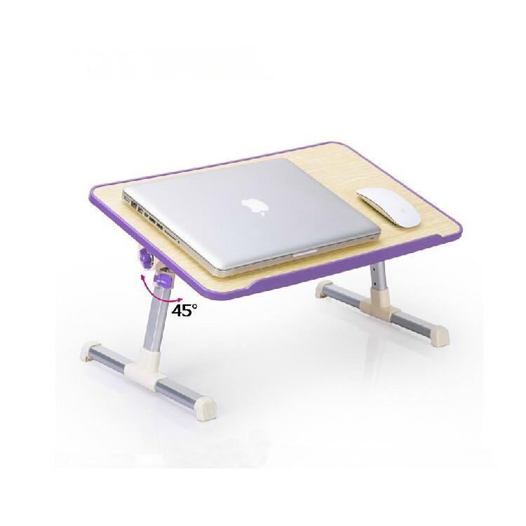 Pliable ordinateur portable Table Notebook Stand ordinateur portable lit bureau avec ventilateur de refroidissement hauteur réglable Angle 30 degrés ajuster 30x52 cm