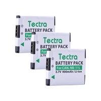 Tectra 3 قطعة/الحزمة NB-11L ملحوظة 11L كاميرا بطارية لكاميرات كانون PowerShot A2300 هو A2600 A4000 هو ELPH 110 HS ELPH 150 HS IXUS 155