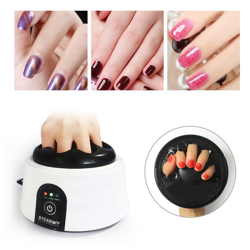 36W Electric UV Nail Gel Polish Remover Machine Portable Soak Off Steamer For Home Salon Beauty Cleaner Tool US/EU/UK Plug