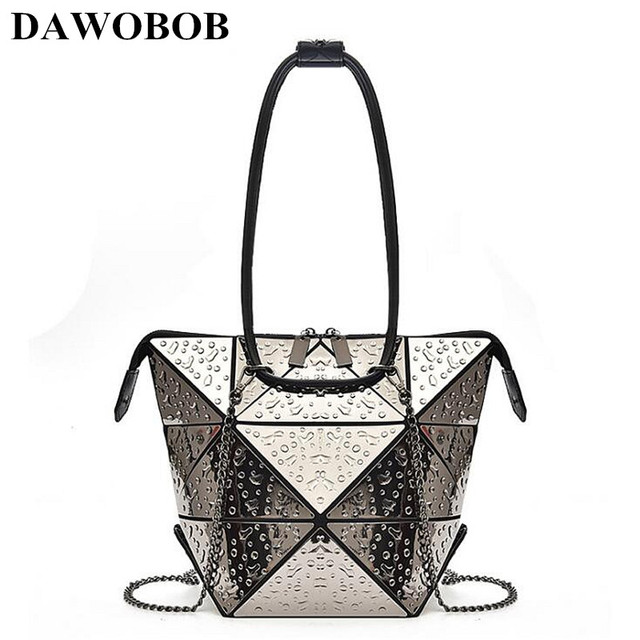 2018 Fashion Women Luxury Silver Handbag Chains Shoulder Bag sac Geometric  Messenger Bag Clutch bolsa Crossbody Bags feminina 7c34edc3a312c