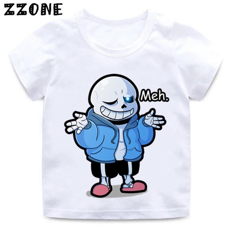 Anime Undertale Sans Papyrus T-shirt Top Summer Multicolor Short Sleeve Unisex