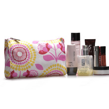 Women cheap flower print Cosmetic Bag Fashion Beauty Zipper Travel Make Up Bag Letter Makeup Case Pouch Toiletry flower print