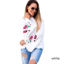 Elegant Lady Embroidered Sweaters Flower Pullovers Flare Sleeve Loose Christmas Jumpers Female Casual Autumn Winter Pull Femme 3