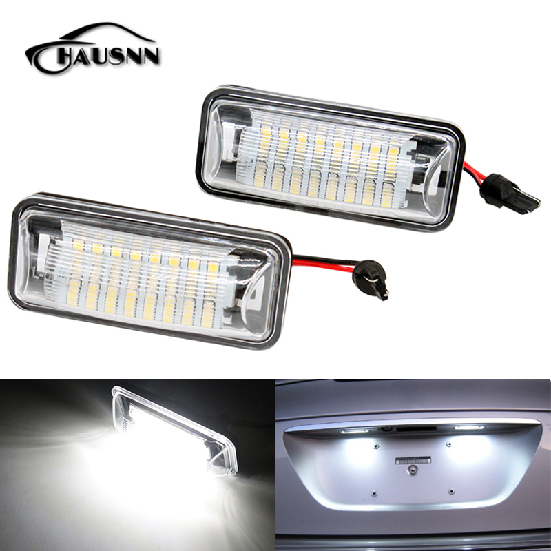 2Pcs/Set HAUSNN Canbus Error Free White 24SMD LED Number License Plate Lights For Subaru BRZ Impreza Legacy XV Crosstrek 4pcs super bright t10 w5w 194 168 2825 6 smd 3030 white led canbus error free bulbs for car license plate lights white 12v