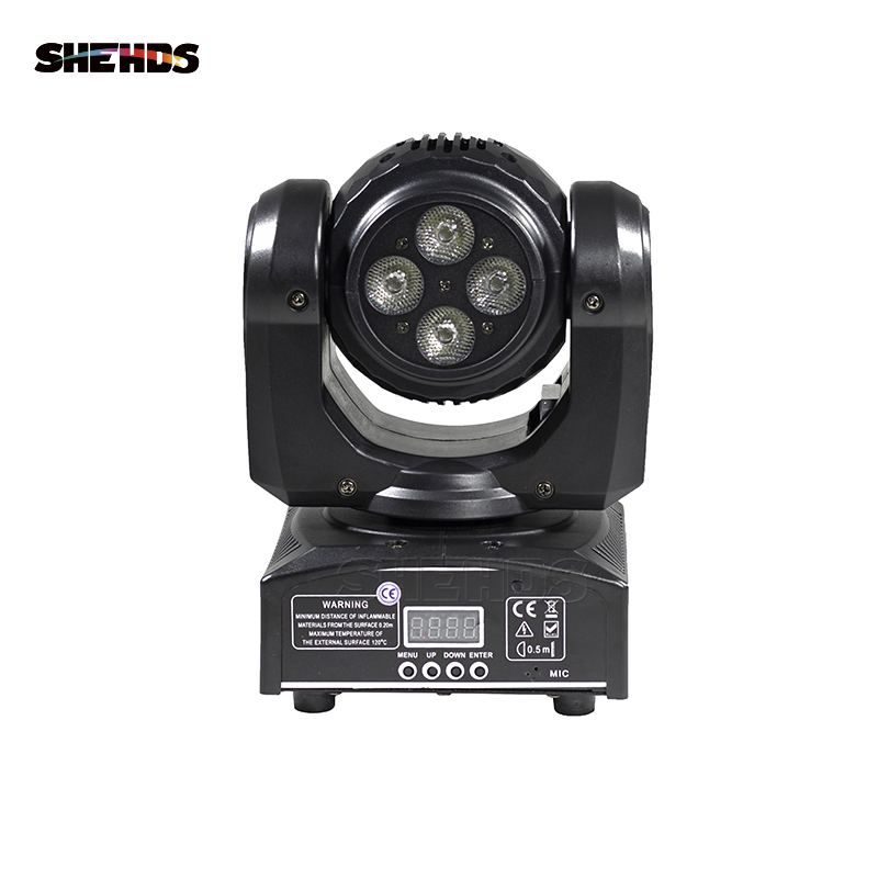 2pcs/lot LED Beam Wash Double Sides 4 x10W+1x10W RGBW 4in1 Moving Head Stage Lighting DMX LED Stage Pattern Lamp Rotating DJ