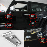 1Set Chromeplate Car Door Hinge Car Refitting Stickers for Jeep Wrangler JK Stylish Auto Accessory Car Stickers and Decals