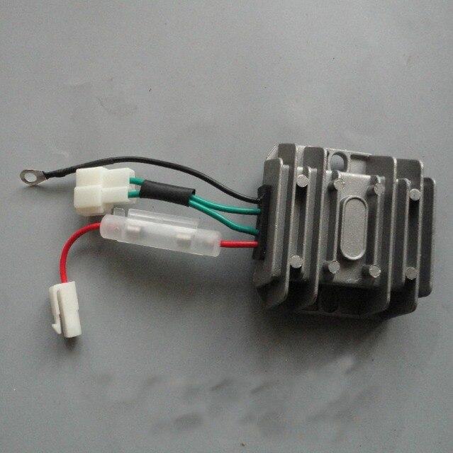 4 FIOS de Tensão Automática Regulador Retificador 12 V AVR Monofásica 178F 186F 186FA gerador Regulador de Carga de peças de reposição