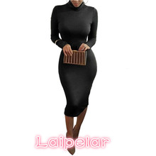 Womens Sexy Slim Fashion Europe Style High Neck Clubwear Night Wear Bodycon Dresses 8 Colors Laipelar