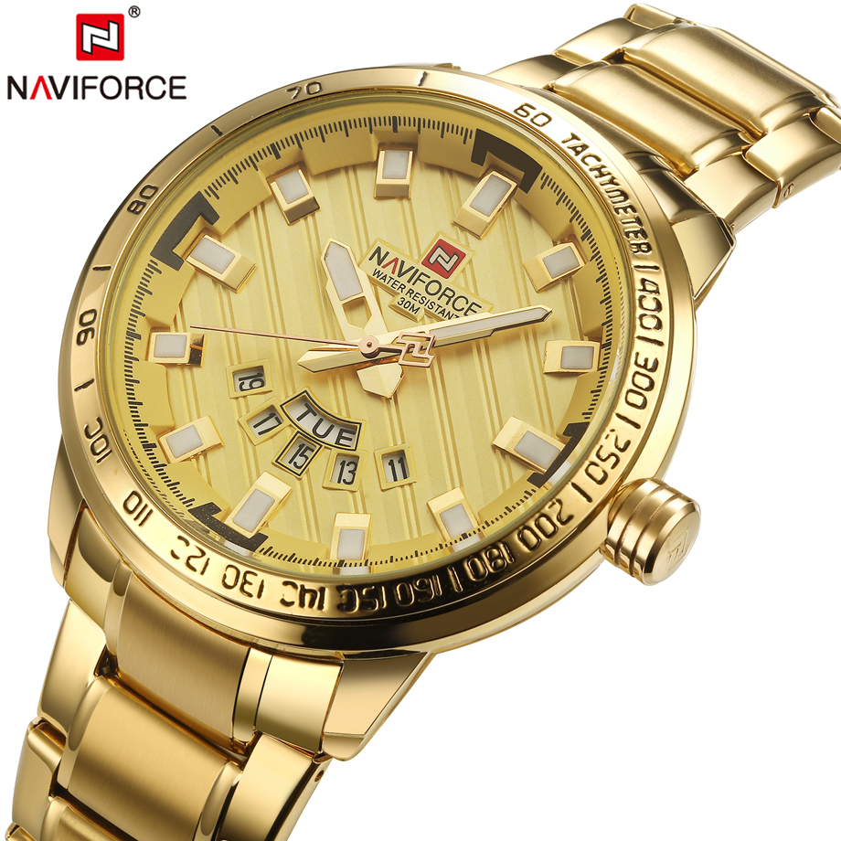 New Fashion Mens Watches Gold Full Steel Male Wristwatches Sport Waterproof Quartz Watch Men Military Hour Man Relogio Masculino new fashion mens watches gold full steel male wristwatches sport waterproof quartz watch men military hour man relogio masculino