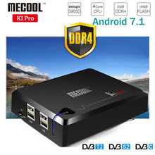 NEW! MECOOL KI PRO TV Box KI PRO S2+T2 DVB Amlogic S905D Quad 2G+16G Support DVB-T2&S2/DVB-T2/DVBS2 Set Top Box Android TV Box