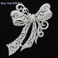 New 2015 Fashion Jewelry Rhinestone Brooches Crystal Bow Bowknot Brooch Broach Pin For Wedding Bridal Free