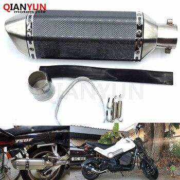 for Motorcycle parts Exhaust Universal 51mm Stainless Steel Motorbike Exhaust Pipe For Yamaha FZ6 FAZER FZ6R FZ8 FZ1 FAZER XJ6