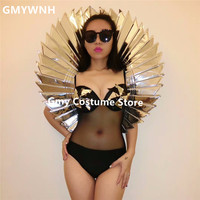 S02 Ballroom dance silver mirror costumes dresses women dj stage show wears bar outfit clothe party performance clothe stage