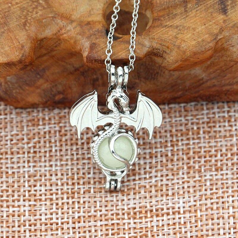 Silver Jewellery Gift Idea Sea Luminous GLOW IN THE DARK Fish Pendant Necklace