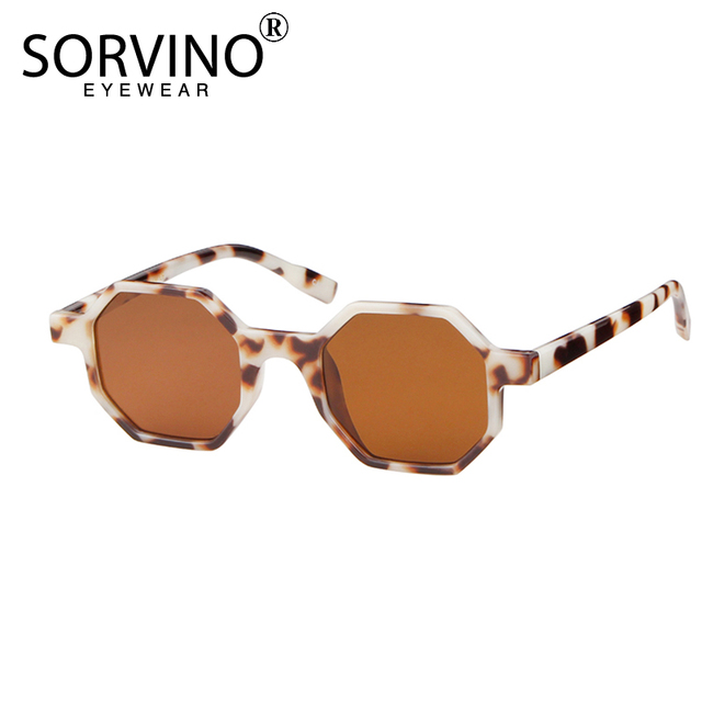 a61e3614fb3 SORVINO Unique Vintage Women Octagon Sunglasses 2018 Brand Designer Skinny  Frame Square Sun Glasses White Red