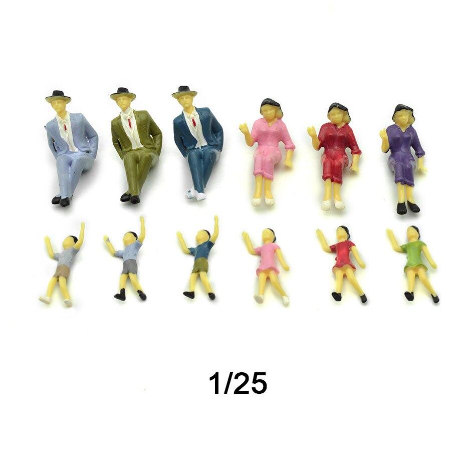 20 Pcs Personnage miniature Modèle Colorés Echelle 1:25