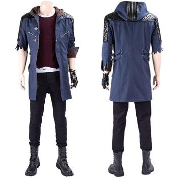 May Cry 5 Nero Cosplay Costume Nero Coat Jacket Outfit Full Suit Halloween Carnival Costume
