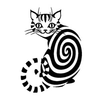 12.5cm*17.5cm Cheshire Cat Animal Vinyl Stickers Decals Decor Black/Silver S3-5930
