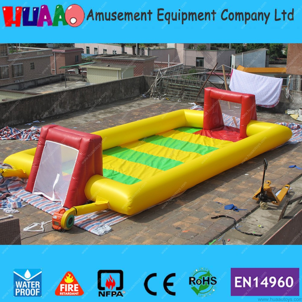 PVC Portable Inflatable Kids Soccer Court Football Field Inflatable Football Pitch for Outdoor free shipping free shipping ce certificated inflatable football pitch inflatable soccer court soapy stadium for sale