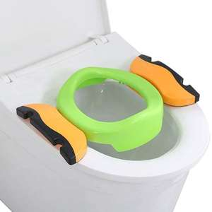 Travel Potty Folding Plastic Comfortable Toilet Ring Potties Seat Chamber Pots Chair Green