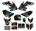 Metal skull  TEAM  GRAPHICS&BACKGROUNDS DECAL STICKERS Kits For Honda CRF50 STYLE Pit Dirt bike(Drak Green)
