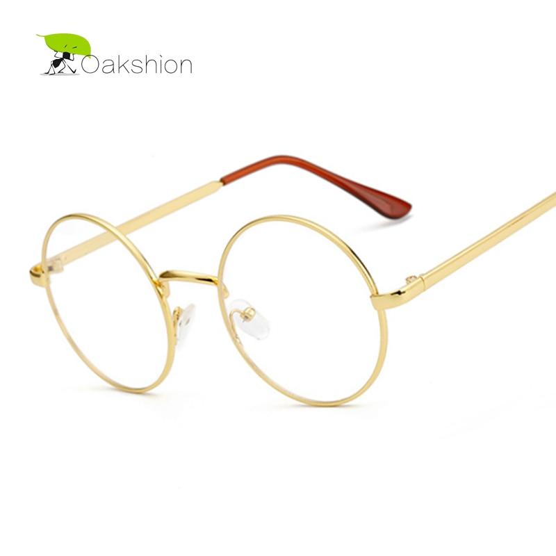 Korean gold glasses frames nerd glasses eyeglasses frame metal optical glasses round retro female clear lens transparent eyewear