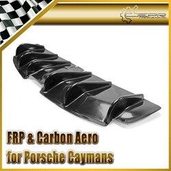 Samochód stylizacji dla Porsche 2006 2012 Caymans 987 Boxster S z włókna szklanego EPA styl tylny dyfuzor z Undertray FRP dolne akcesoria w Markizy i zadaszenia od Samochody i motocykle na