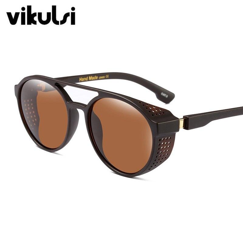 Vintage Steampunk Sonnenbrille Männer Luxus Marke Retro Spiegel ... d560d2af07