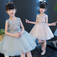 3166b673bc Baby Girl First Communion Embroidery Dresses Kids Party Ball Gown Princess  Birthday Bridesmaid Children Tutu Dress