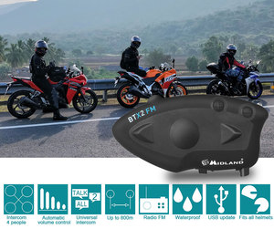 Image 2 - ミッドランド BTX2 FM オートバイのヘルメットインターコムの Bluetooth ヘルメットヘッドセットバイク 800 メートル BT インターホン Intercomunicador モト
