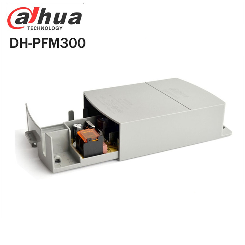 Original Power Supply Adapter DH-PFM300 Water/Fire-Proof Input AC 180260V Output DC 12V 2A Power Switch For Cctv Camera