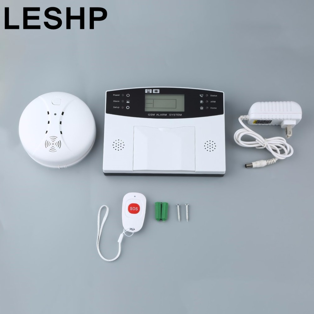 GSM LCD Wireless 433 Smart Burglar Security Alarm System Detector Sensor Kit Remote Control Auto Dial SMS Outdoor Siren 105dB 433mhz dual network gsm pstn sms house burglar security alarm system fire smoke detector door window sensor kit remote control