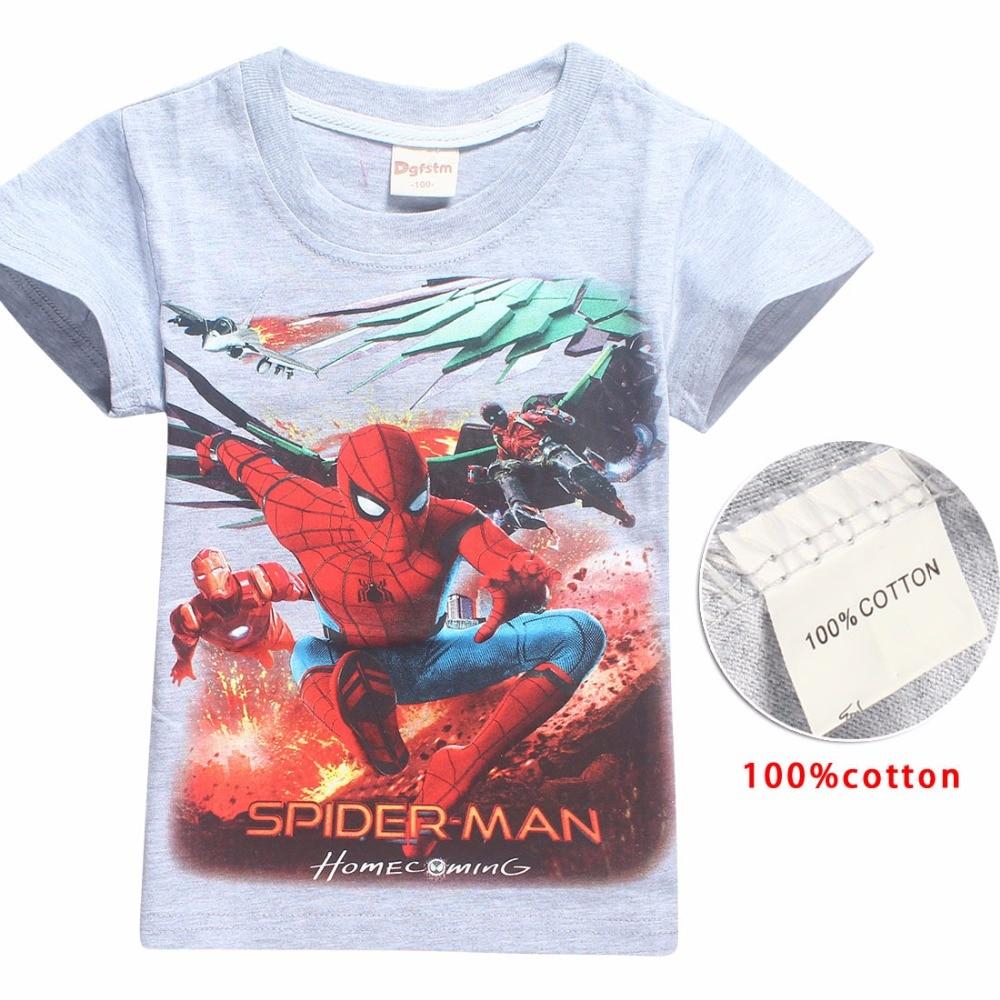 2018 Short Sleeve t shirt Children Batman Superman Movies Printing Boys Clothes T-Shirts For Boys Kids Baby Children's Clothing 1