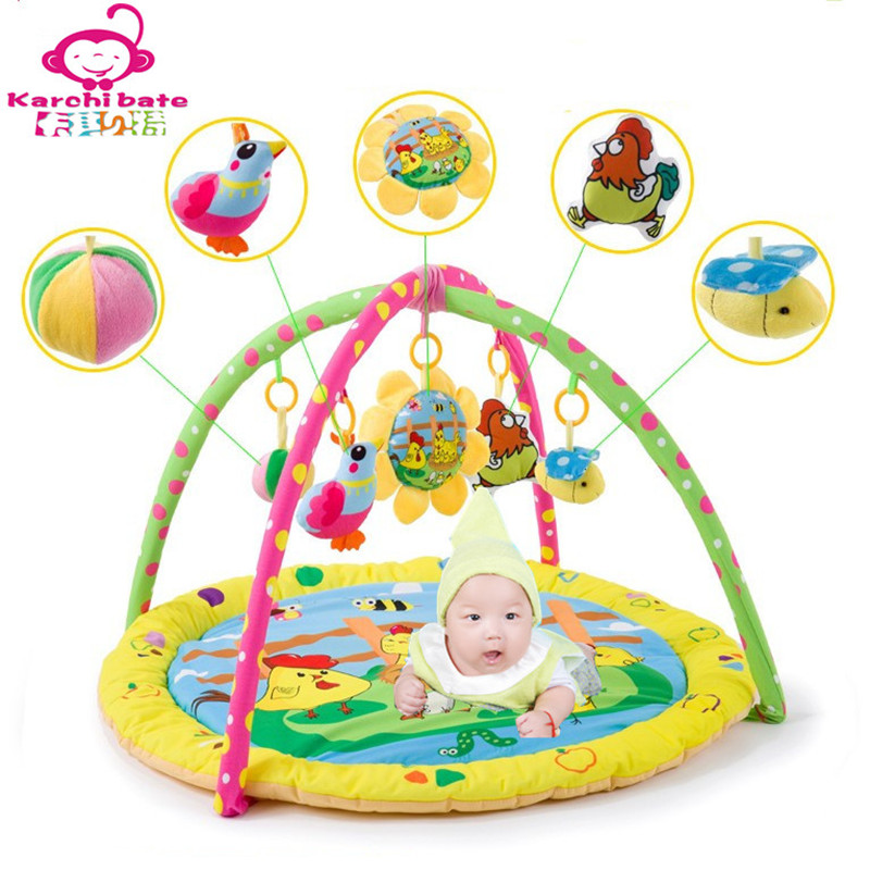 4f58628df8094 Baby Play Mat Baby Activity Pad Gym Educational Play Mats Fitness Frame  Multi-bracket Baby Toys Game Mats