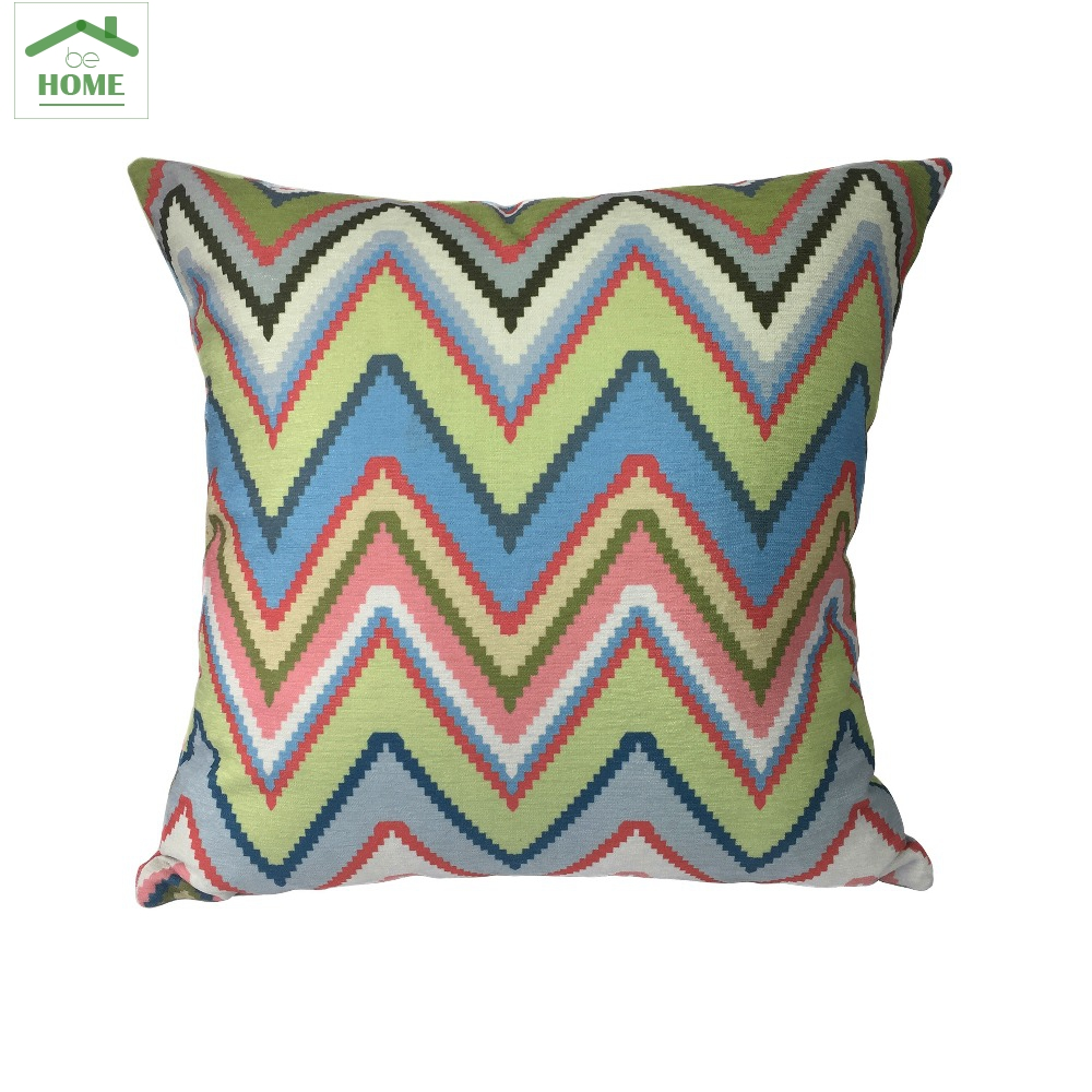contemporary decorative pillows promotionshop for promotional  -  behome contemporary geometric zigzag digital printed chenille cushioncover decorative pillow case  x  cm