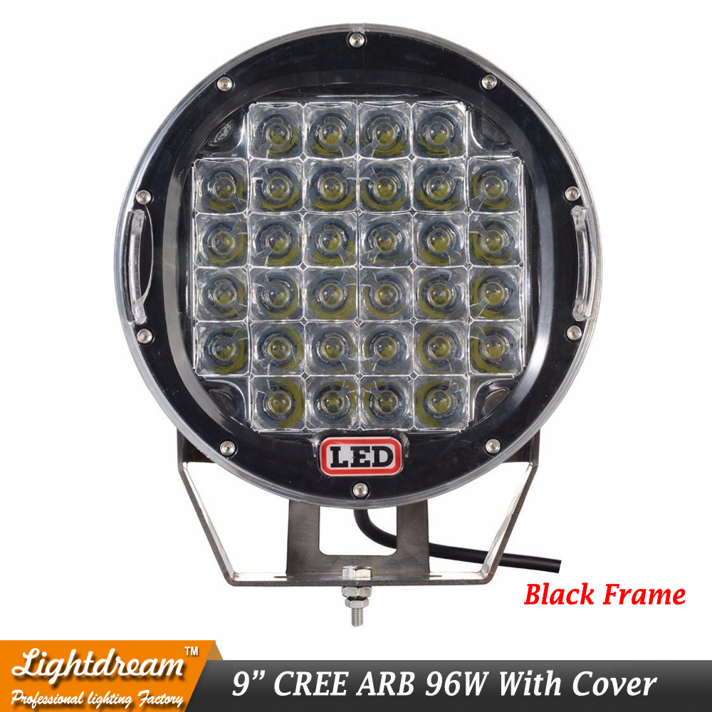 Cross Cover Clear Cover Spot Flood Protect PC Cover For ARB 9 Inch 185W 96W 320W