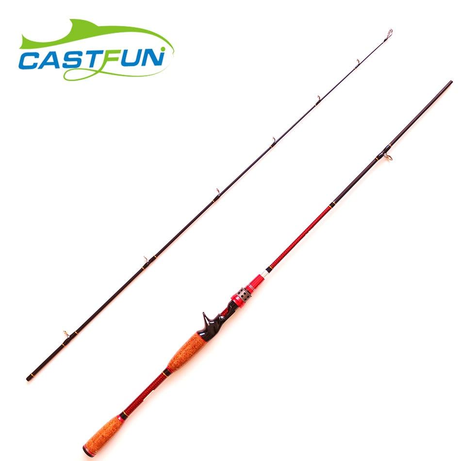 2017 New Design 1.8m - 2.1m Adjustable Carbon Fishing Rod 2 Section Baitcasting Rod