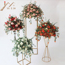 Artificial Silk Flower Ball Flower Rack For Wedding Centerpiece Home Room Decoration Party Supplies DIY Craft Flower 7 Color