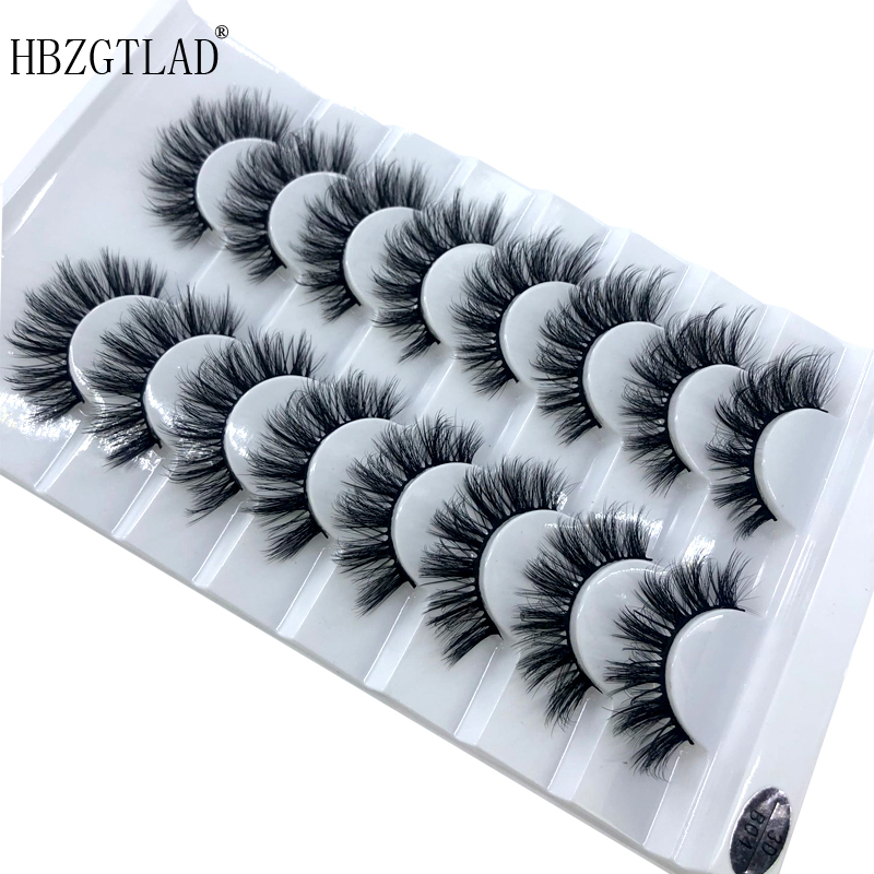 Image 5 - HBZGTLAD 5/8 /10 Pairs 3D Mink Hair False Eyelashes Natural/Thick Long Eye Lashes Wispy Makeup Beauty Extension Tools-in False Eyelashes from Beauty & Health