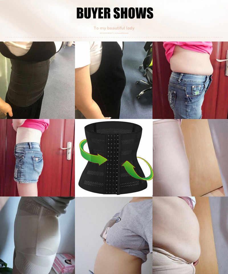 c45c184c31e ... Shapers Waist Trainer for Women Body Modeling Belt Hot Shaper Corset  Postpartum Slimming Belly Band Slim ...