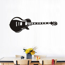 Art Design Home Decoration Vinyl Electric Guitar Wall Sticker Diy Musical Instrument Home Decoration Rock Music Room Decor Decal