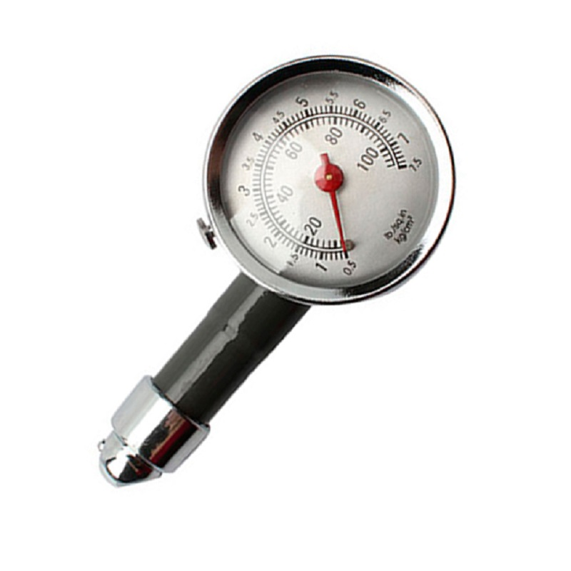 Analog Auto Wheel Tire Air Pressure Gauge Meter Handle Mirror Shaped Vehicle Motorcycle Car Tyre Tester Tyre Air Monitor System 1pc portable tire air pressure test gauge pen vehicle car motorcycle tyre test meter pen silvery 5 50 psi diagnostic tool