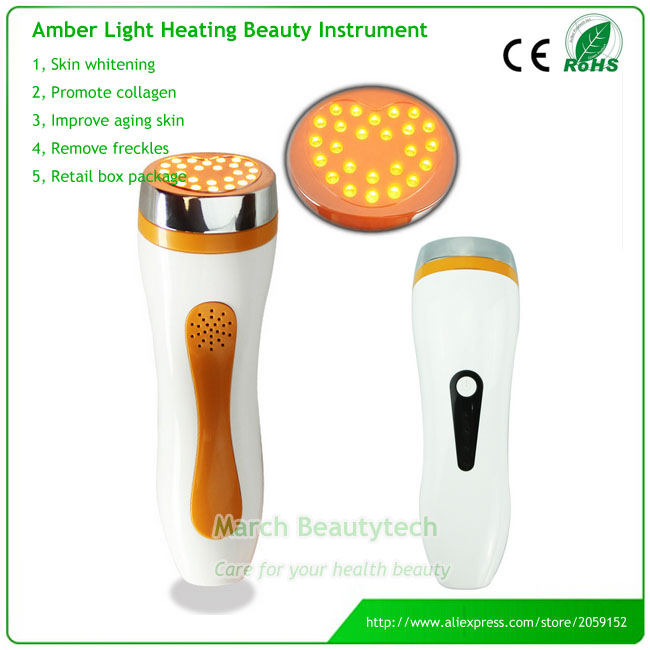 Home Use Portable Heating Yellow LED Photon Light Facial Spot Removal Freckle Machine Skin Rejuvenation Anti-aging anti acne pigment removal photon led light therapy facial beauty salon skin care treatment massager machine