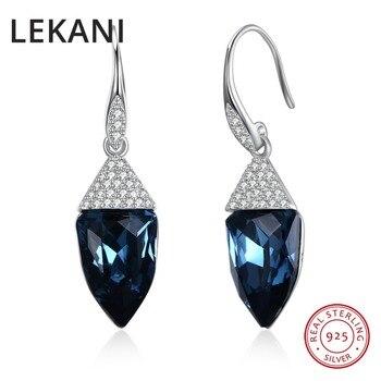019a2cd18b10 2018 recién llegados, LEKANI de los elementos de Swarovski Cristal S925  plata esterlina triángulo ...