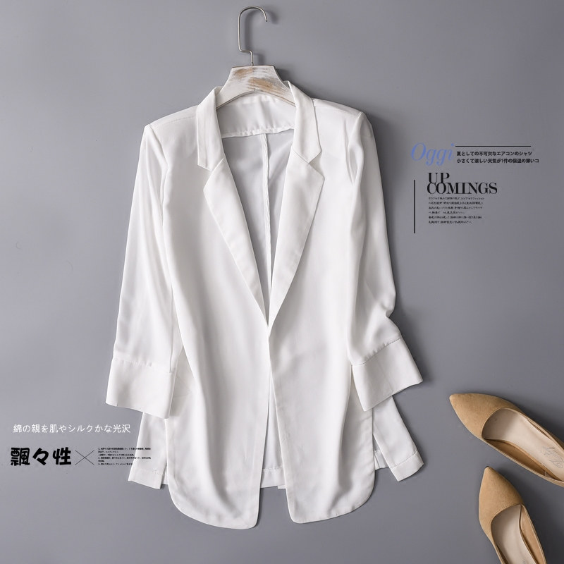 chiffon Formal Blazer Women's Business Suit Slim Long Sleeve Jacket Suits Office Suit For Women Clothes
