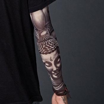 Rękaw do tatuażu męskie ramię kwiatowe bezszwowy tatuaż rękaw lodowy rękaw przeciwsłoneczny do jazdy rękawica do jazdy konnej letni rękaw damski tanie i dobre opinie Jayden-Jessie Unisex Dla dorosłych NYLON Drukuj ZHB80003 Podgrzewacze ramię summer