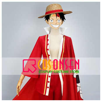 COSPLAYONSEN One Piece 15th Anniversary Monkey D Luffy Cosplay Costume Full Set Custom Made - DISCOUNT ITEM  0% OFF All Category
