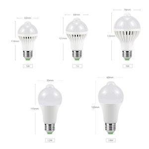 Image 2 - LED veilleuse PIR capteur ampoules mouvement du corps 220V 230V détecteur de mouvement LED lampe escaliers couloir éclairage 5W 7W 9W 12W 18W