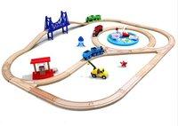 Diecasts игрушечных автомобилей Томас деревянный поезд трек с Рыбалка Томас и Друзья детей игрушки для детей