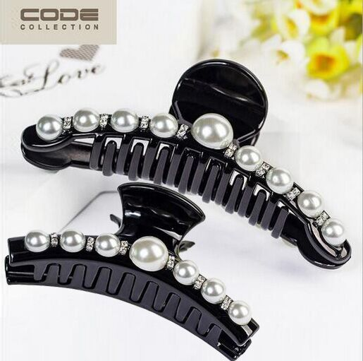 Hair Ornaments Luxury Pearls Hairpins Trendy Hair Clip Shiny Rhinestone Crab Hair Claws For Women Girl Accessories Headwear new design lady girl cute pearl hair clip pretty flower rhinestone hair claws women barrettes headwear floral hairpins wholesale